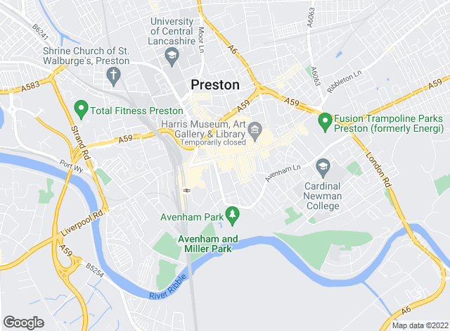 Map for Hazelwells, Preston