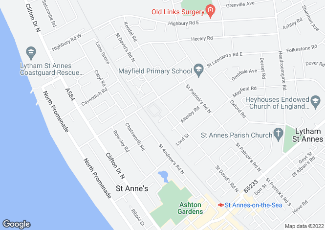 Map for Former Car Garage , 5 Fleet Street, St Annes On Sea, Lancashire, FY8 2DQ