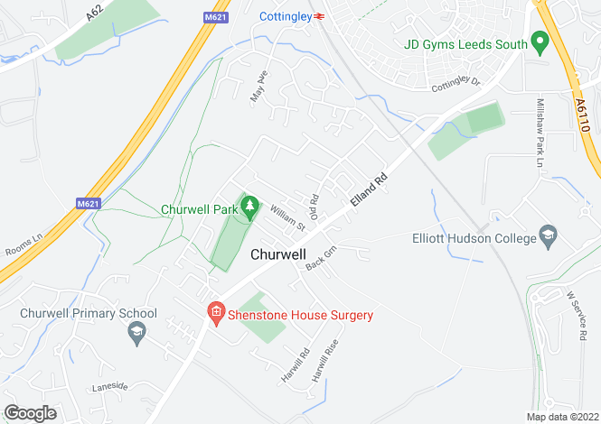 Map for Old Road, Churwell, Leeds, LS27