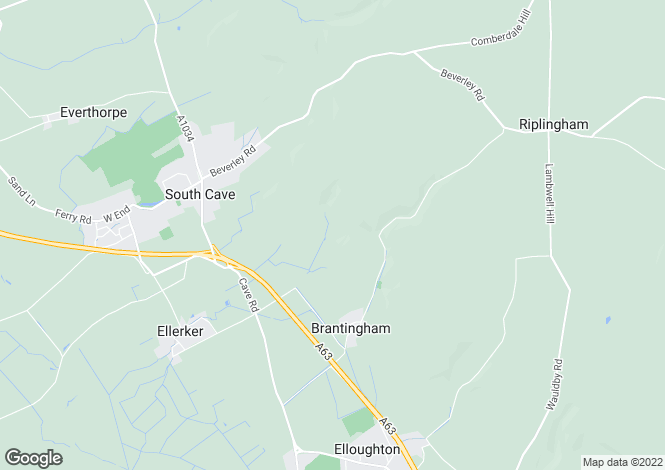 Map for Woo Dale Hall, Ellerker Road, Brantingham, HU15 1QF