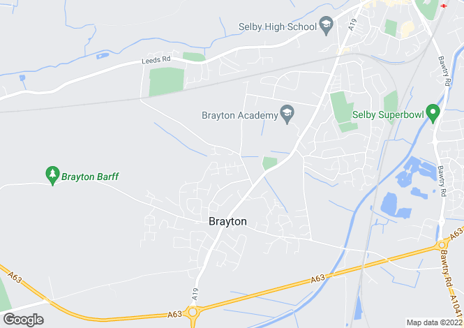 Map for Mansell Close, Brayton, Selby YO8
