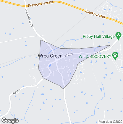 Map of property in Wrea Green