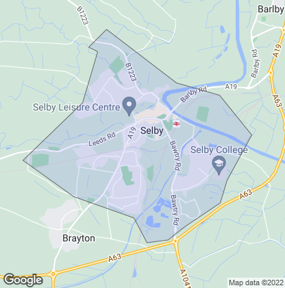 Map of property in Selby
