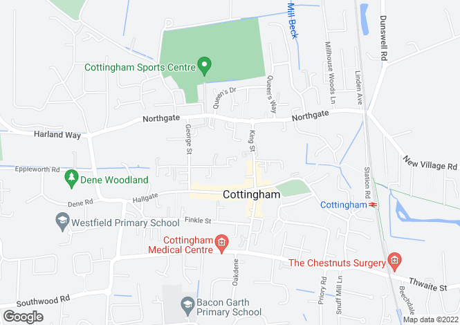 Map for Applegarth Mews, Crescent Street, Cottingham, East Yorkshire, HU16