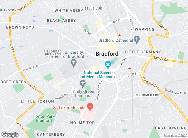 Map for Priestley & Co. Ltd, Bradford