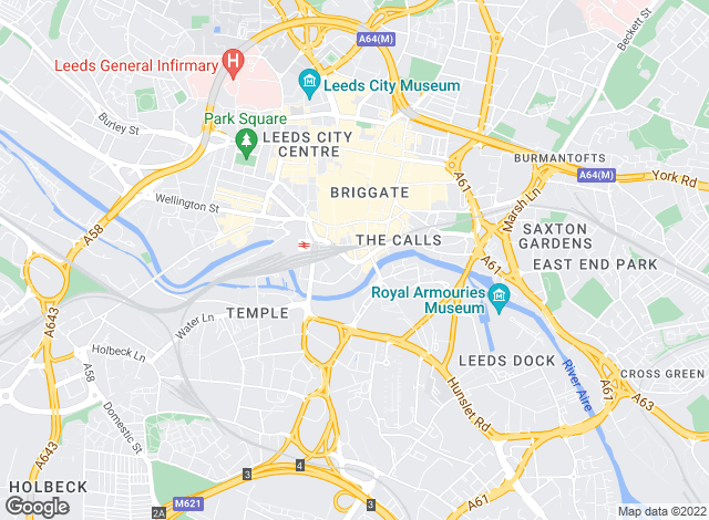 Map for Parklane, Leeds City Office