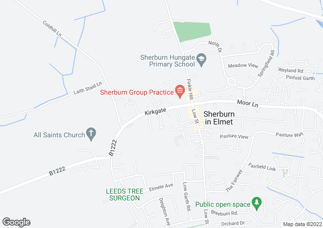 Map for Kirkgate, Sherburn in Elmet, LS25 6BH