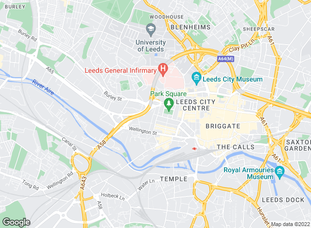 Map for Carter Jonas, Leeds