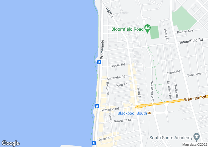 Map for Promenade, Blackpool