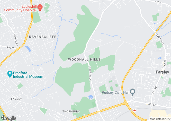 Map for Woodhall Hills Hamlet, Calverley, LS28