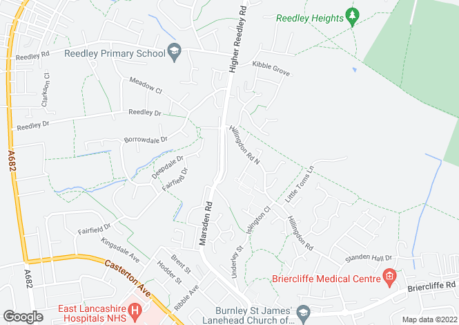 Map for Marsden Road,