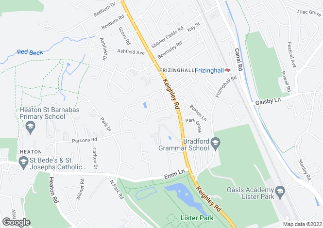 Map for Heaton Grove, Bradford, BD9