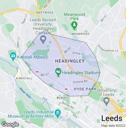 Map of property in Headingley