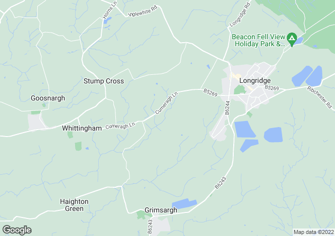 Map for Cumeragh Lane, Whittingham, Preston PR3