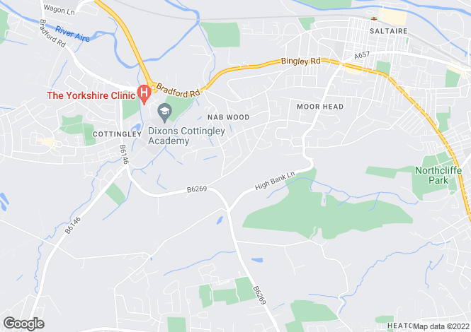 Map for Nab Wood Drive, Shipley
