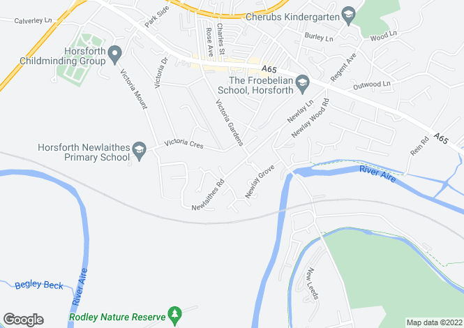 Map for Newlaithes Road, Horsforth, Leeds, LS18
