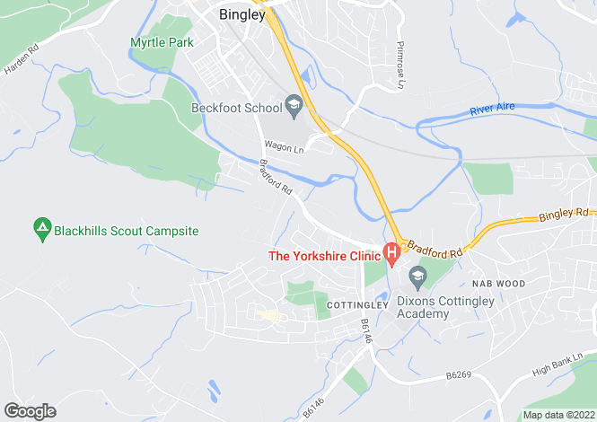 Map for Bradford Road,