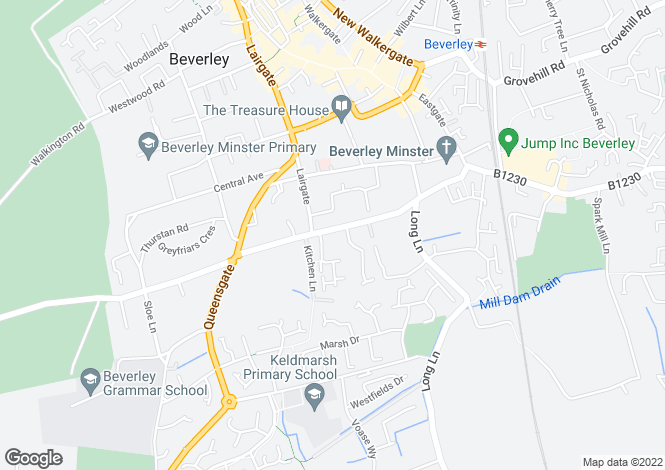 Map for 37 Keldgate Bar, Keldgate, BEVERLEY, East Riding of Yorkshire