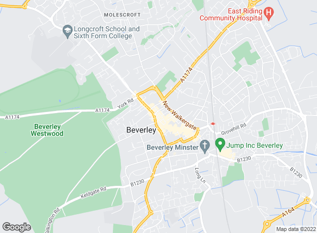 Map for Dee Atkinson & Harrison, Beverley