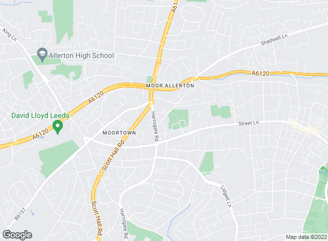 Map for Fine & Country Manning Stainton, Moortown