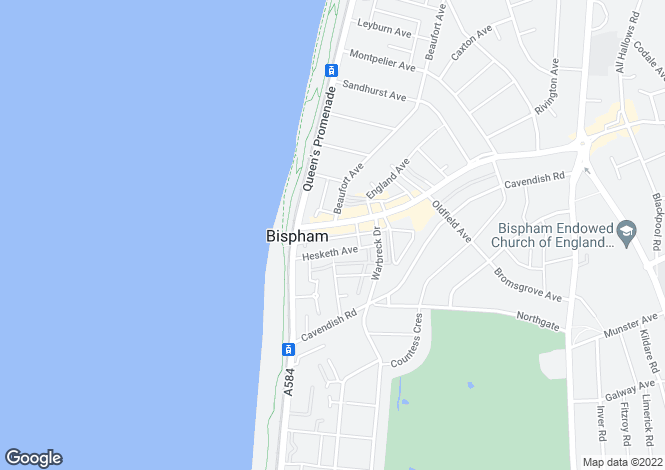 Map for 58A Red Bank Road, Bispham, Blackpool, Lancashire, FY2 9HR