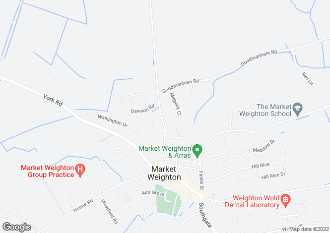 Map for Londesborough Road, Market Weighton
