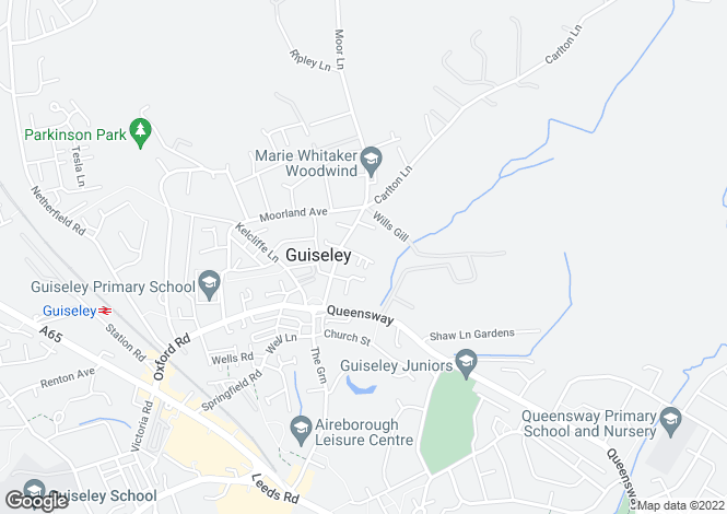 Map for Manor Farm Court, Guiseley