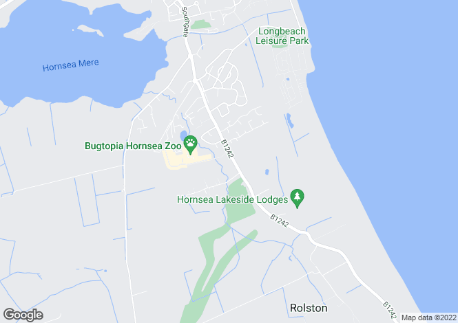 Map for Rose Lawns, Rolston Road, Hornsea, East Yorkshire, HU18