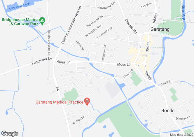 Map for Thermdale Close, Garstang