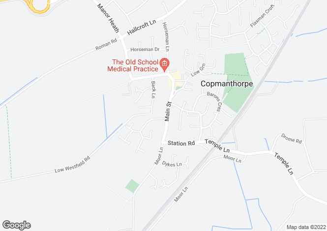 Map for THE FLAT, 6 MAIN STREET, MANOR FARM, COPMANTHORPE, YORK, YO23 3SU