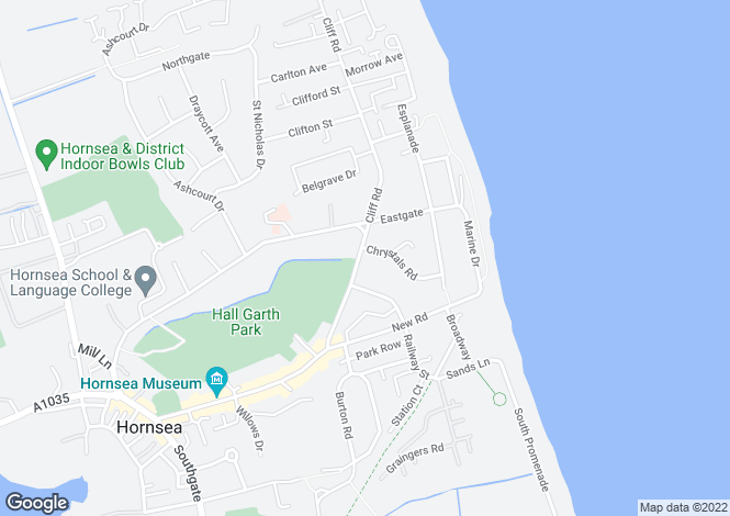 Map for Cliff Road, Hornsea, North Humberside, HU18