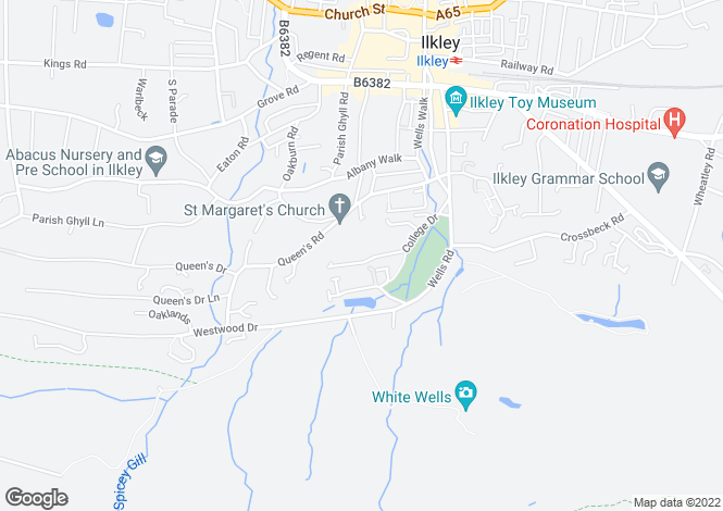 Map for College Drive, Ilkley