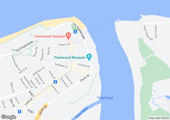Map for Custom House Lne, Fleetwood  FY7 6BY