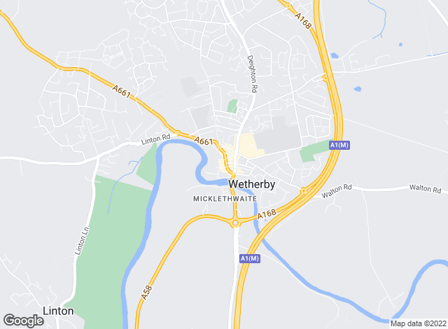 Map for Hunters, Wetherby