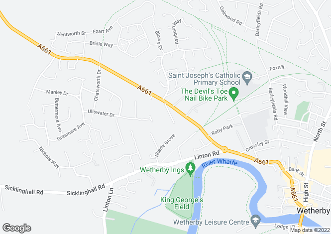 Map for The Spinney, Wetherby, West Yorkshire, LS22