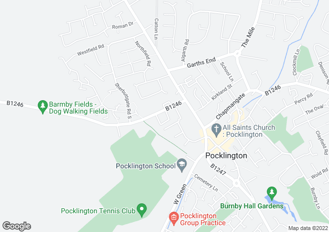 Map for Pine Grove House, Pocklington, YO42 2DL