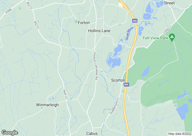Map for Forton Woodturning, Lancaster New Road, Cabus, Preston, Lancashire