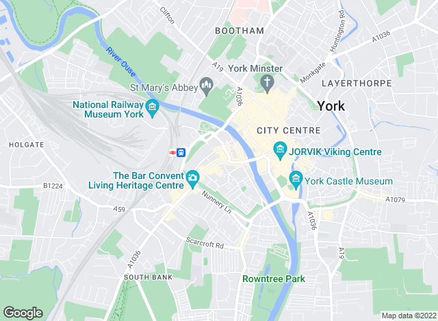 Map for Carter Jonas Lettings, York