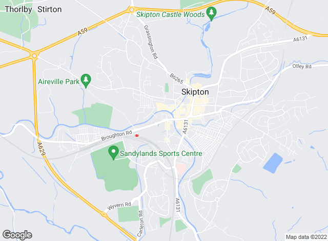 Map for Belvoir Skipton, Skipton