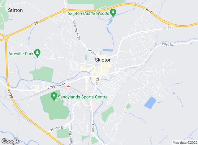 Map for Dacre Son & Hartley, Skipton
