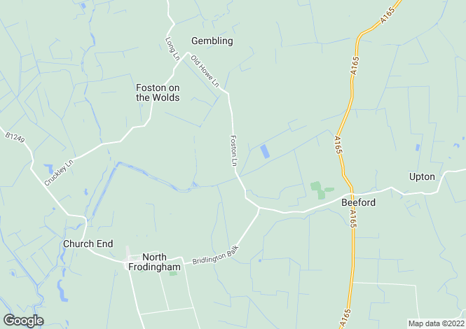 Map for Foston Road, Beeford, East Yorkshire, YO25