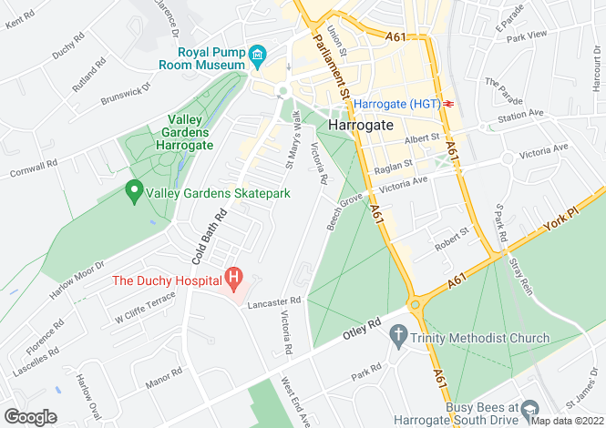 Map for OCTAVIA MEWS, VICTORIA ROAD, HARROGATE, HG2 0HQ