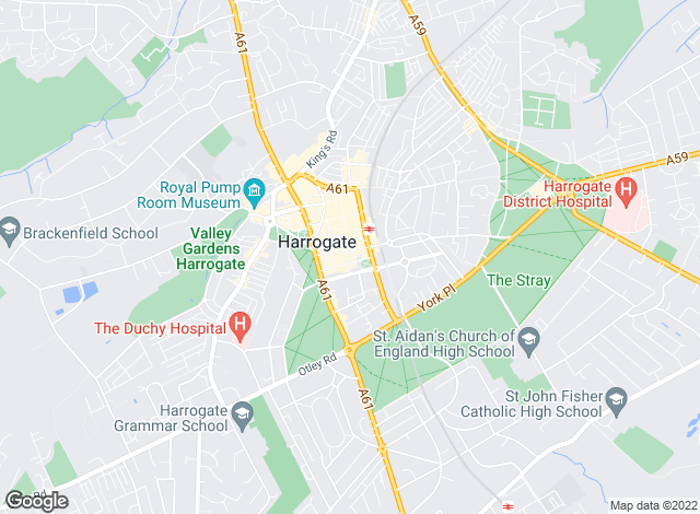 Map for Nicholls Tyreman, Harrogate - Lettings