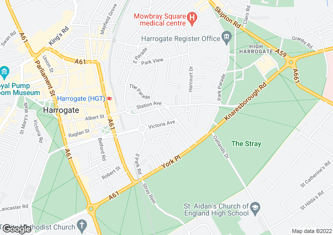 Map for Queen Parade, Harrogate, North Yorkshire
