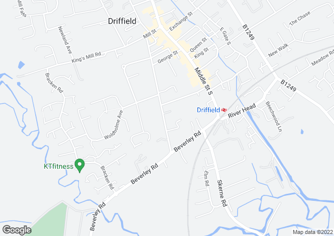Map for St. Johns Road, Driffield, YO25