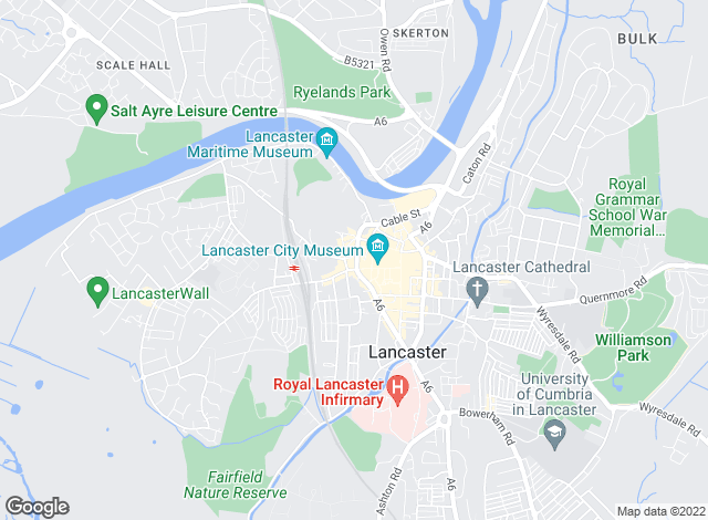 Map for Sue Bridges, Lancaster