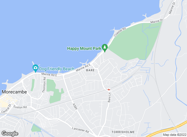 Map for GF Property Sales & Lettings, Morecambe