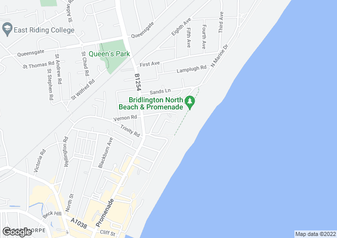Map for Alexandra Court, Bridlington, East Yorkshire, YO15