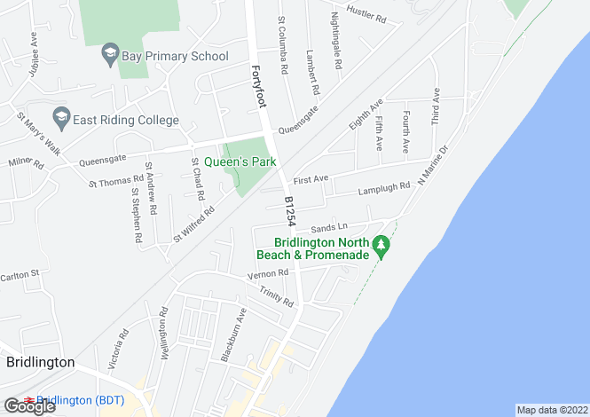 Map for Flamborough Road, Bridlington, East Riding Yorkshire, YO15 2JQ