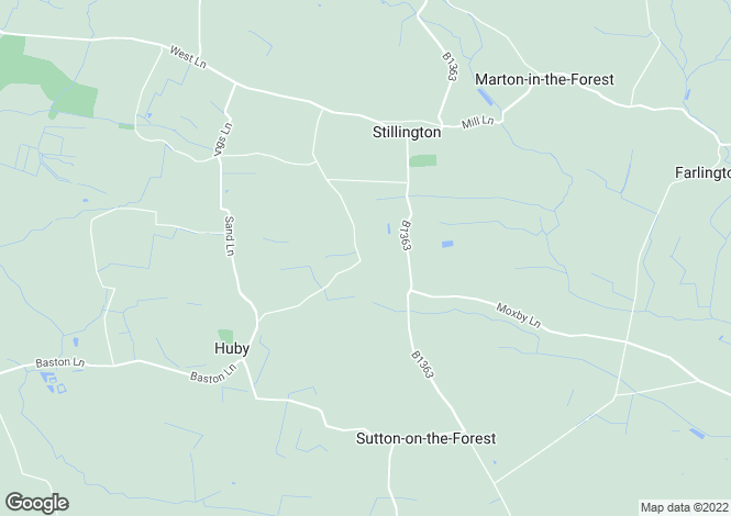Map for Stillington, North Yorkshire, YO61